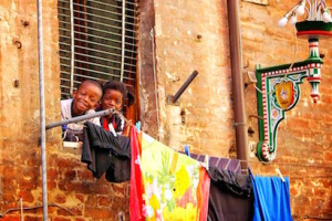Kids Smiling in Siena