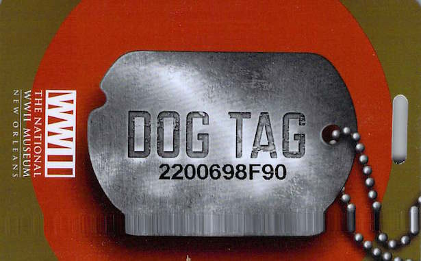 The National World War II Museum Dog Tag