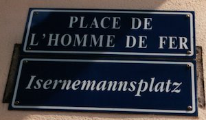 Alsatian Street Sign