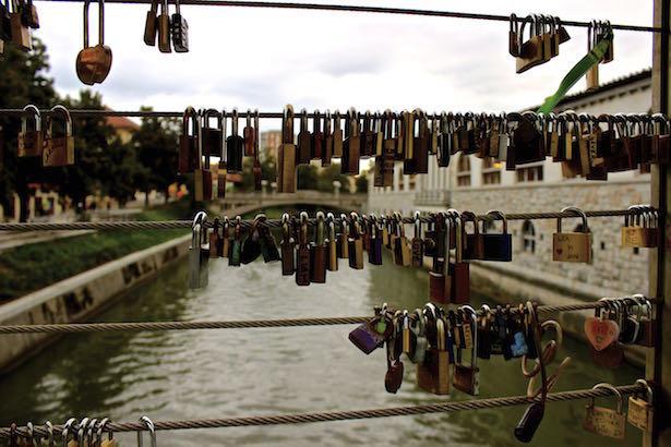 Ljubljana - Slovenia LOVE LOCKS