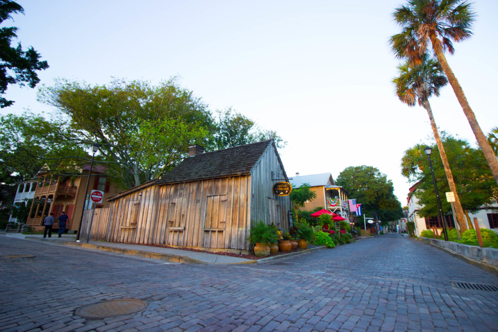 Photo: Teri Didjurgis • BlueSkyTraveler || Streets of the old quarter in St. Augustine