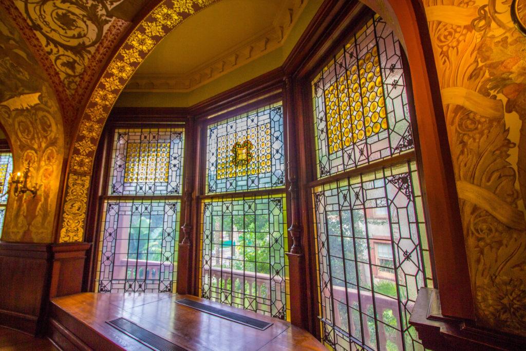 Photo: Teri Didjurgis • BlueSkyTraveler || Ponce de Leon Hotel • Flagler College Tiffany Windows