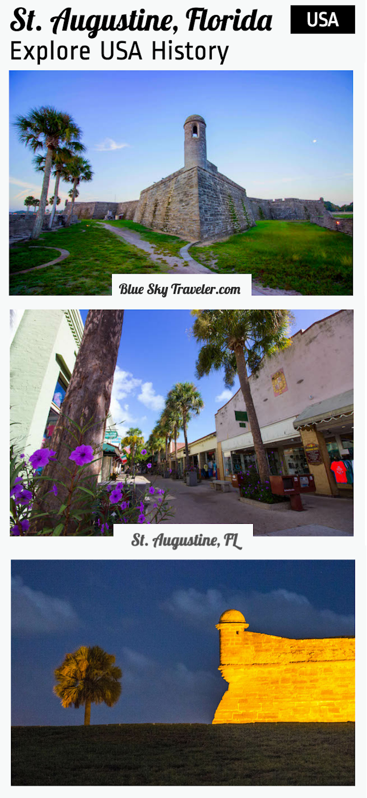Take a weekend getaway to St. Augustine, Florida to explore history in first USA city on the East Coast. See more - srcset=