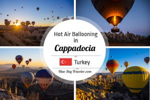Hot Air Ballooning in Cappadocia Turkey: It's not only the experience of floating above other-worldly landscapes, but the magical experience of being in the midst of dozens of other balloons greeting the morning light with you. See more at http://www.blueskytraveler.com/wp-content/uploads/2017/11/BlueSkyTraveler.Cappadocia.HotAirBalloon.C-300x200.jpeg
