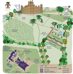 Highclere Castle Map