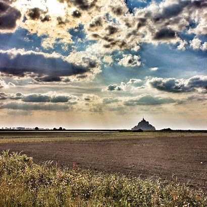 First View of Mont St. Michel