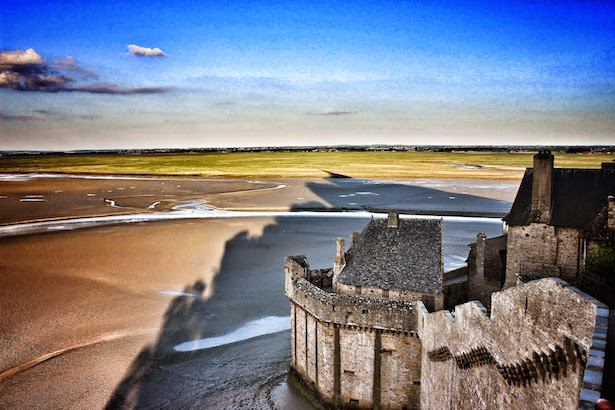 The shadow of Mont St. Michel