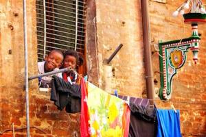 Kids Smiling in Siena