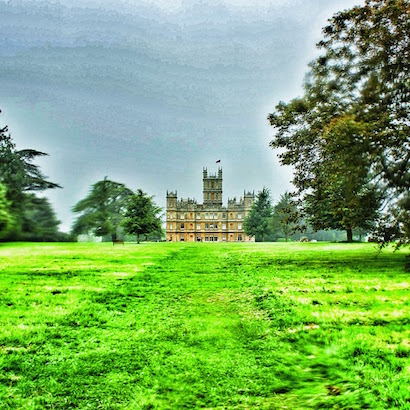 East Lawn of Highclere Castle