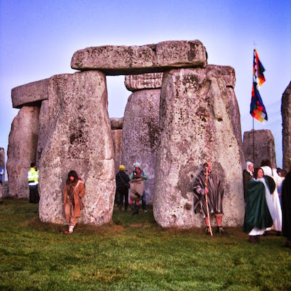Guardians staking their spot for sunrise at Stonehenge