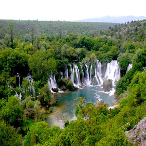 Bosnia Kravice Waterfall