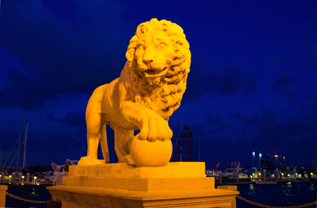 Photo: Teri Didjurgis • BlueSkyTraveler || St. Augustine's Bridge of Lions