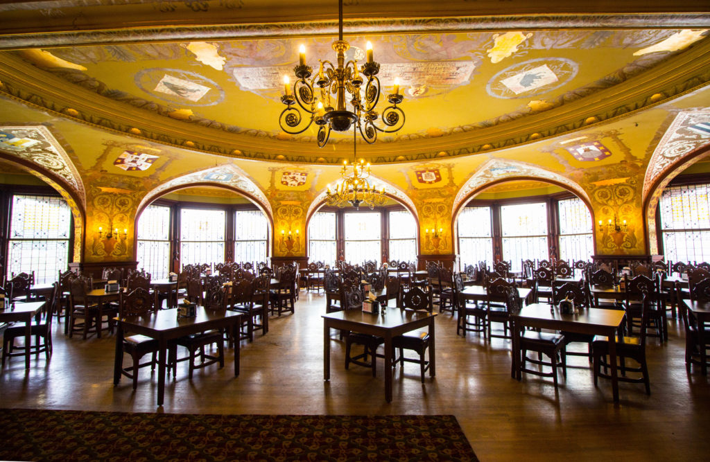 Photo: Teri Didjurgis • BlueSkyTraveler || Ponce de Leon Hotel • Flagler College Dining Room